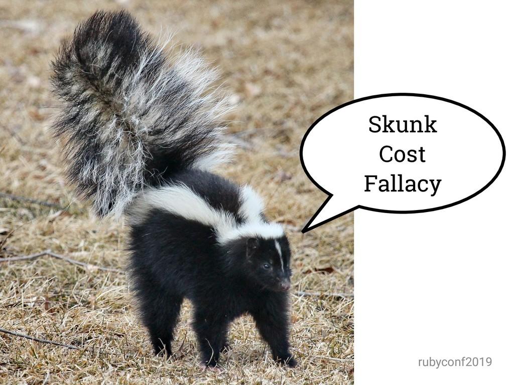 @amynewell / @natbudin rubyconf2019 Skunk Cost ...