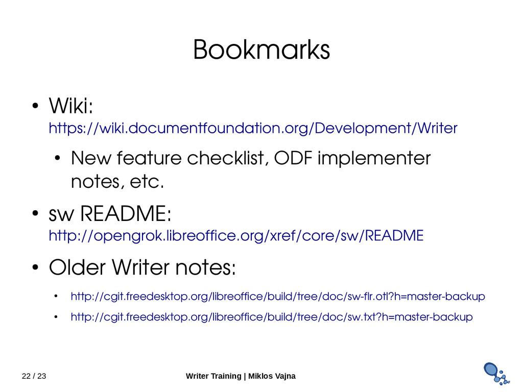 22 / 23 Writer Training   Miklos Vajna Bookmark...