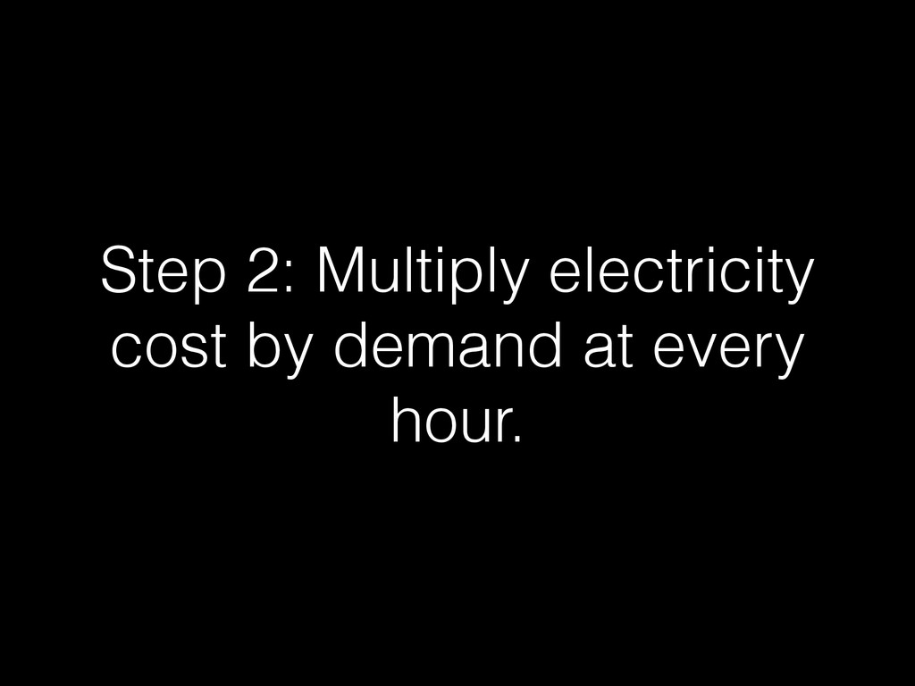 Step 2: Multiply electricity cost by demand at ...