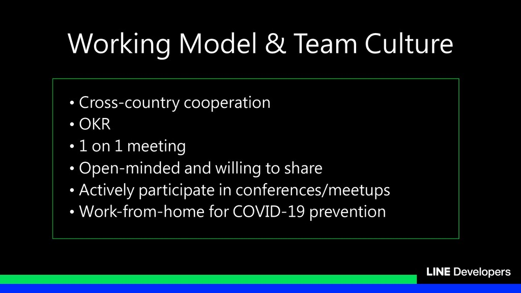 • Cross-country cooperation • OKR • 1 on 1 meet...