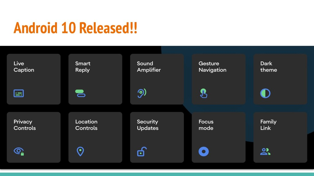 Android 10 Released!!