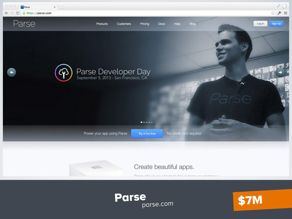 Parse parse.com $7M