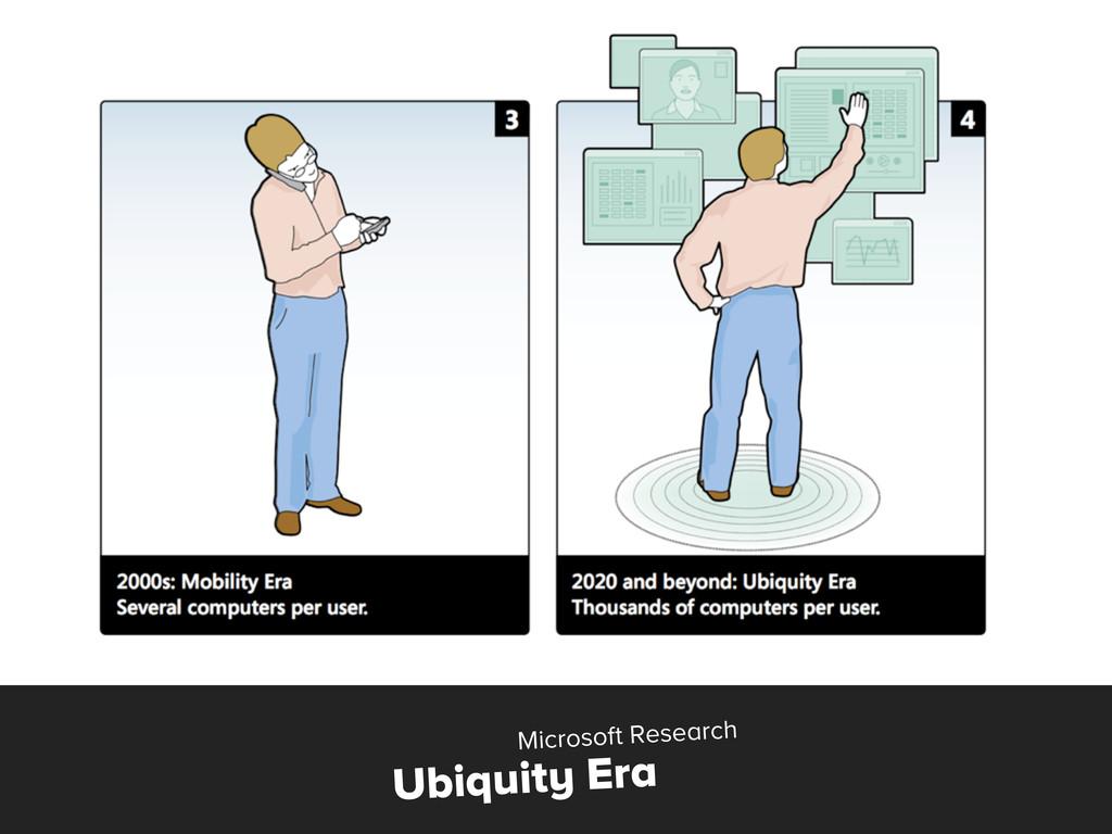 Ubiquity Era Microsoft Research