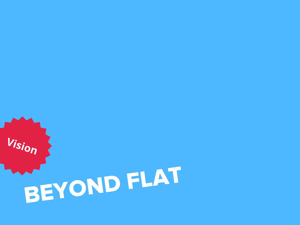 BEYOND FLAT Vision
