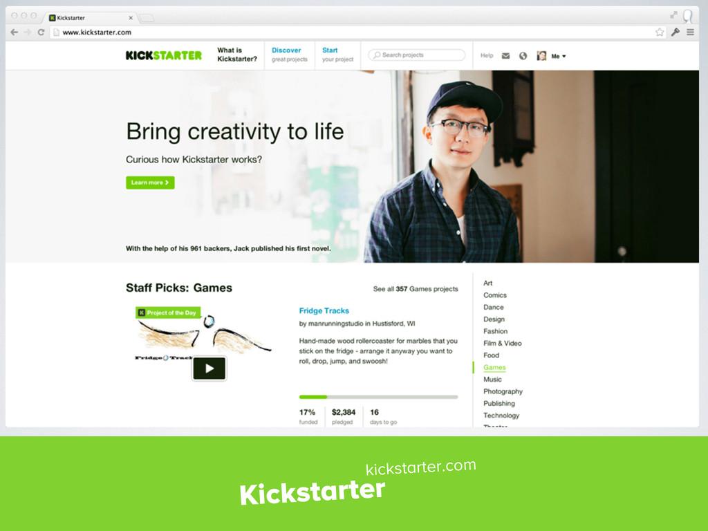 Kickstarter kickstarter.com