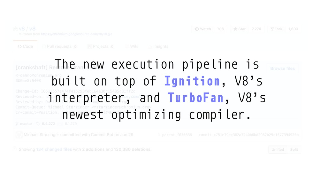 The new execution pipeline is built on top of I...