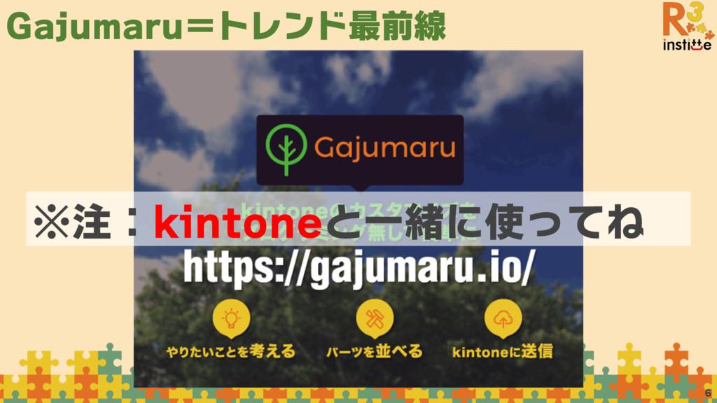 Gajumaru=トレンド最前線 6 ※注:kintoneと一緒に使ってね