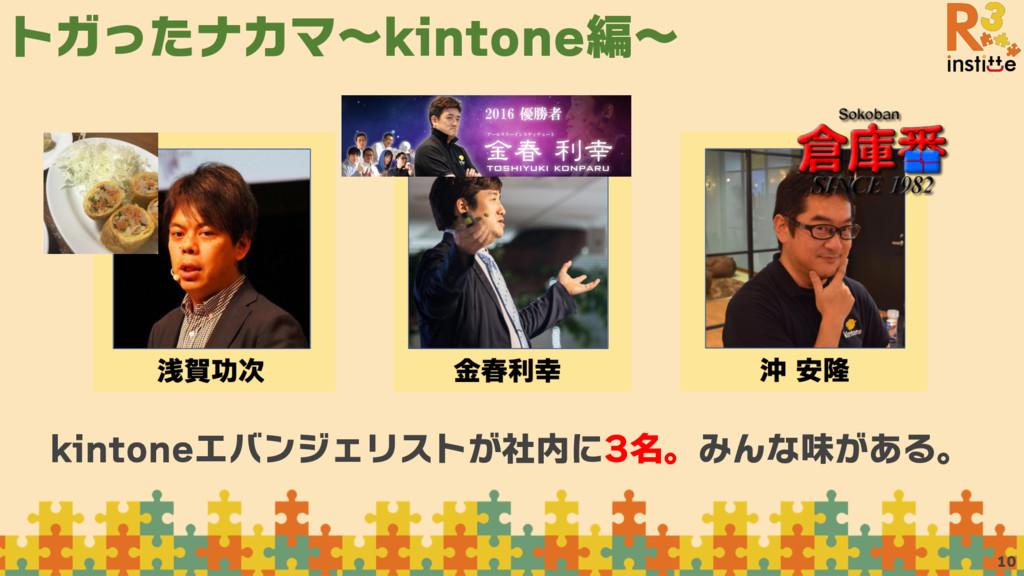 トガったナカマ〜kintone編〜 10 kintoneエバンジェリストが社内に3名。みんな味...