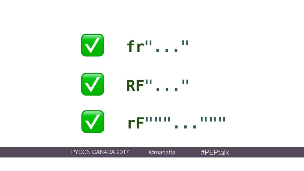 """rF""""""""""""..."""""""""""" ✅ fr""""..."""" ✅ RF""""..."""" ✅ PYCON CANADA ..."""