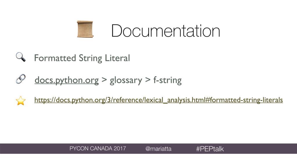Documentation https://docs.python.org/3/refere...