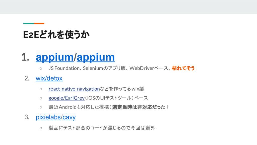1. appium/appium ○ JS Foundation、Seleniumのアプリ版、...