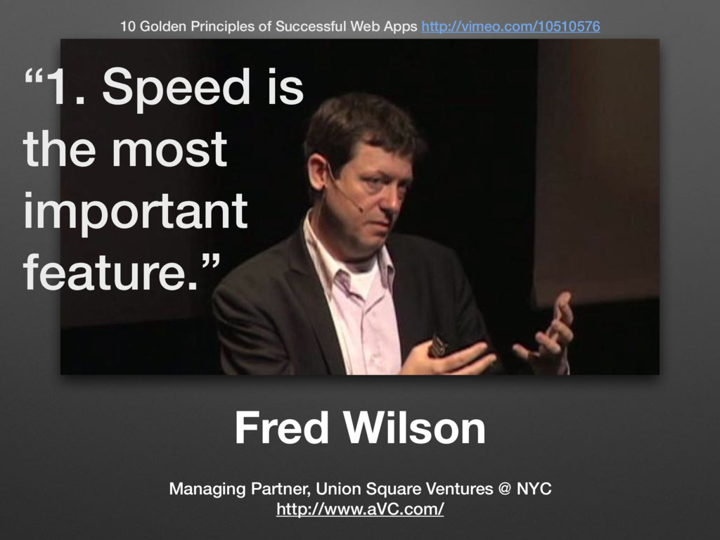 Fred Wilson Managing Partner, Union Square Vent...
