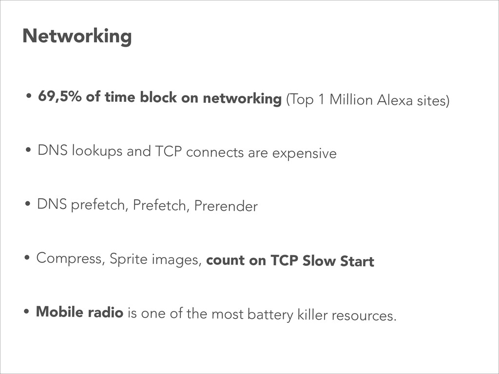 • 69,5% of time block on networking (Top 1 Mill...