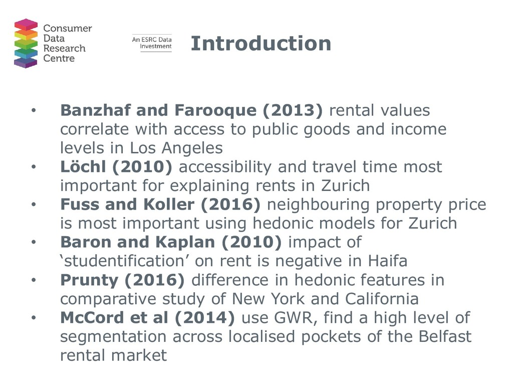 Introduction • Banzhaf and Farooque (2013) rent...