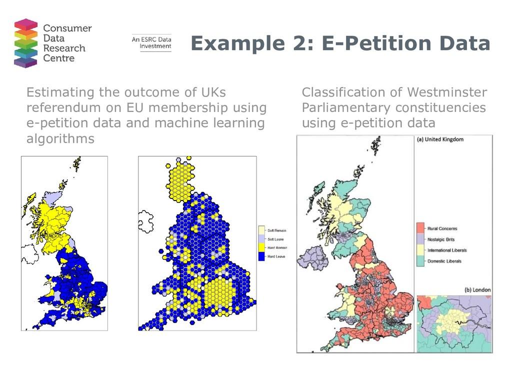 Example 2: E-Petition Data Estimating the outco...