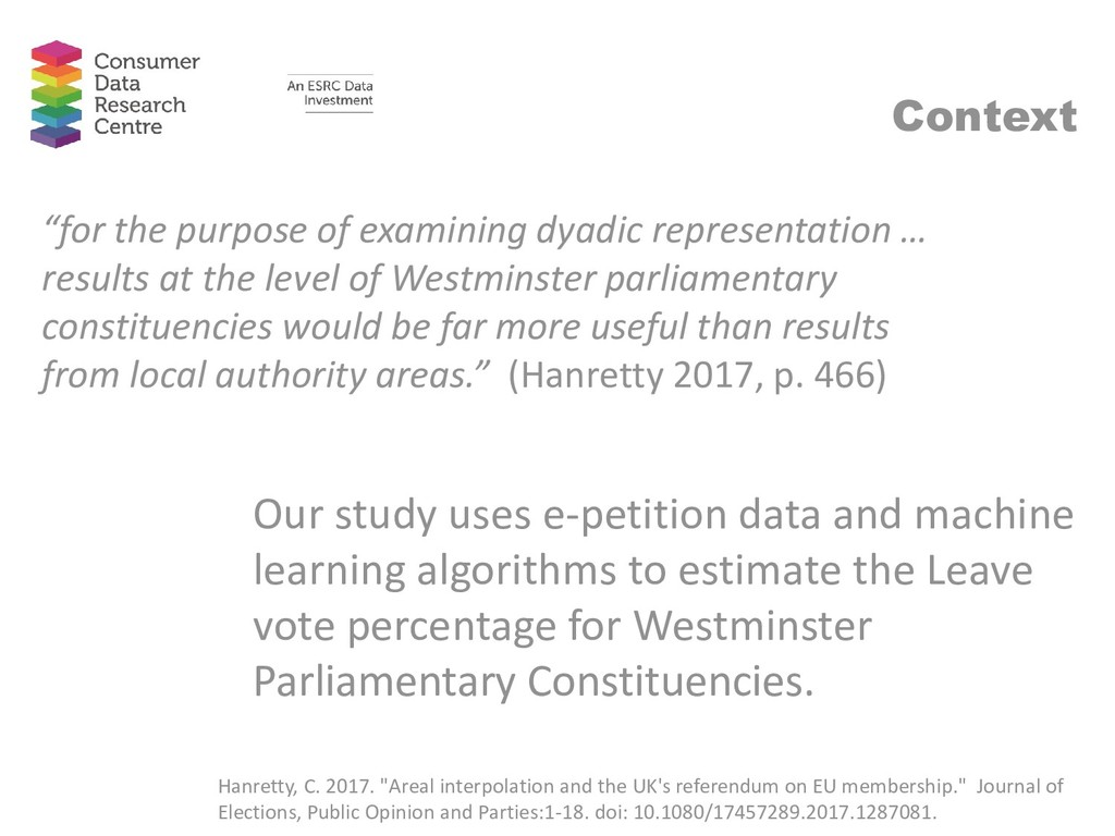 Our study uses e-petition data and machine lear...