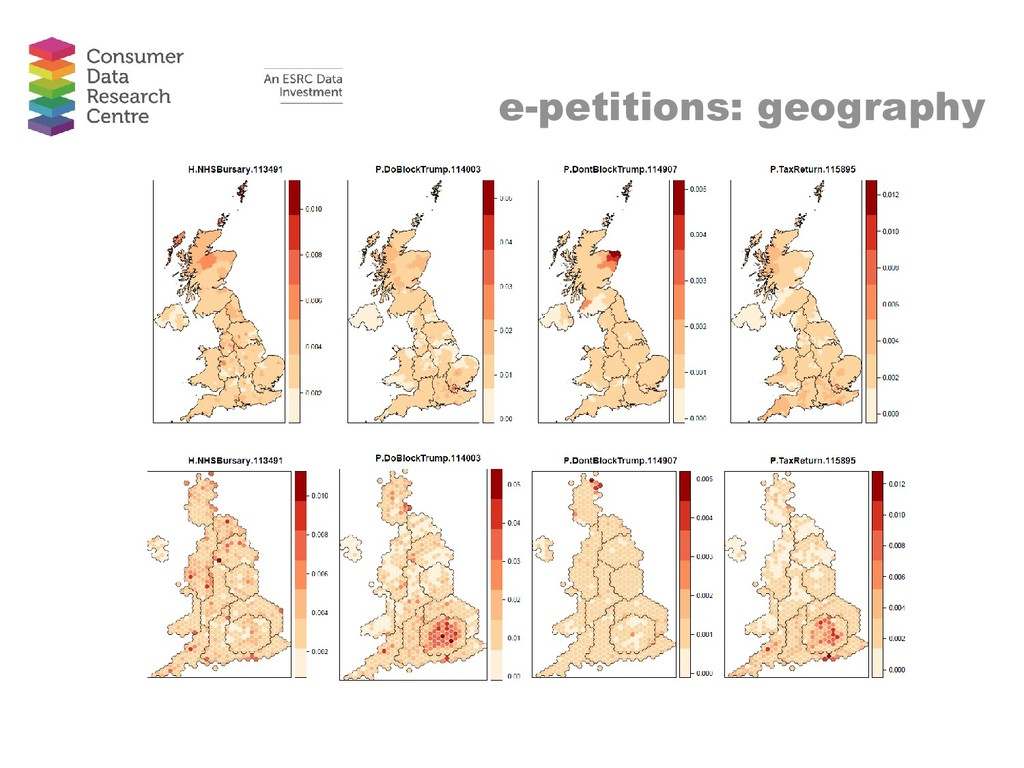 e-petitions: geography