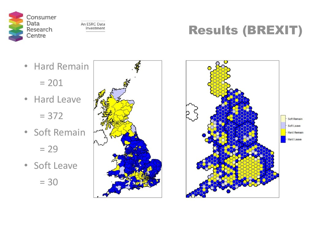 Results (BREXIT) • Hard Remain = 201 • Hard Lea...