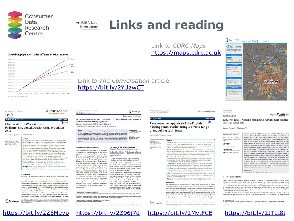 Links and reading Link to The Conversation arti...