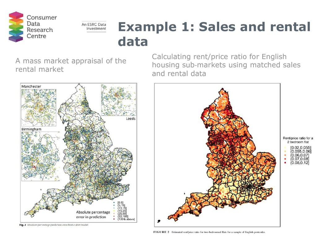 Example 1: Sales and rental data A mass market ...