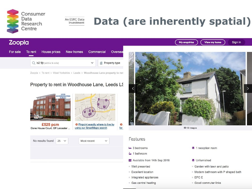 Data (are inherently spatial) • Rental data fro...