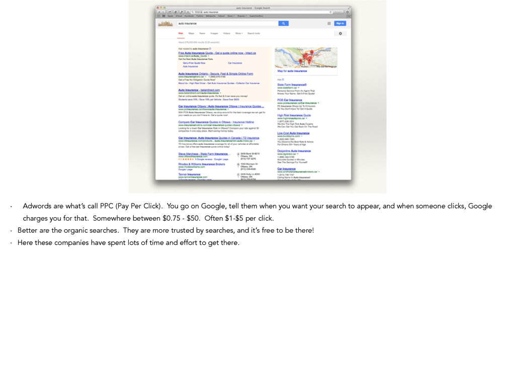 - Adwords are what's call PPC (Pay Per Click). ...