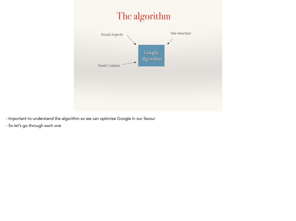 The algorithm Google Algorithm Fresh Content So...