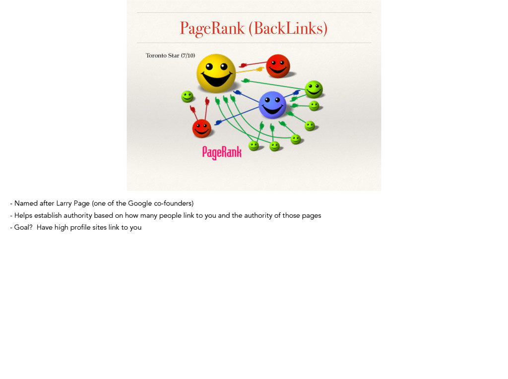 PageRank (BackLinks) Toronto Star (7/10) - Name...