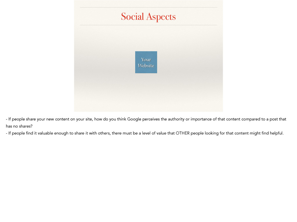 Social Aspects Your Website - If people share y...