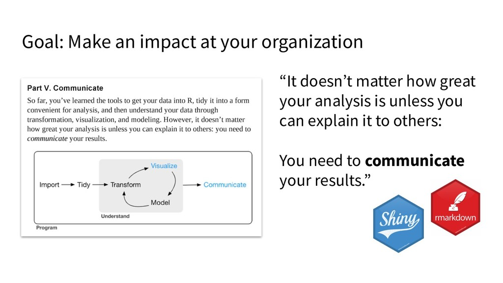 "Goal: Make an impact at your organization ""It d..."