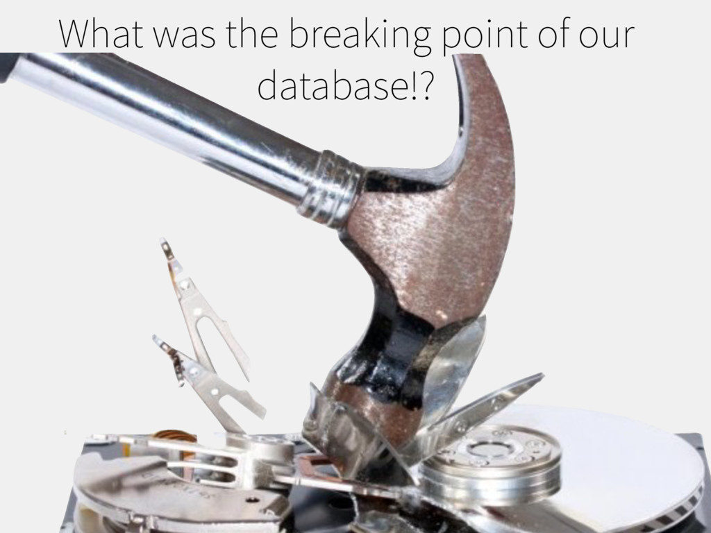 What was the breaking point of our database!?