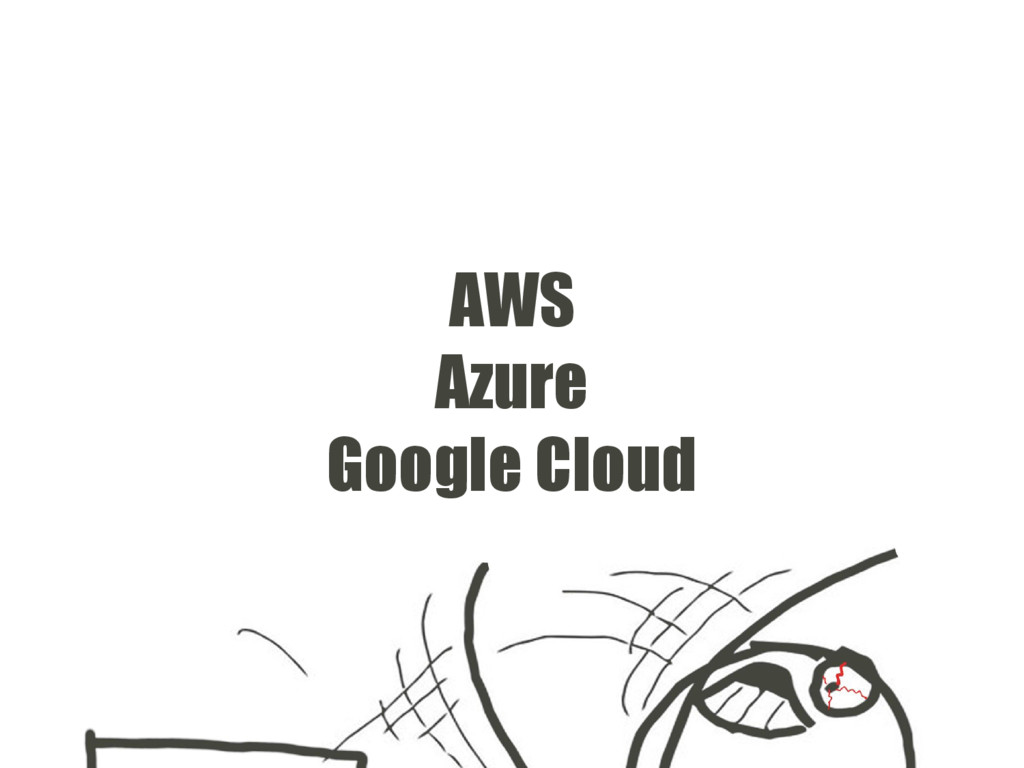 AWS Azure Google Cloud