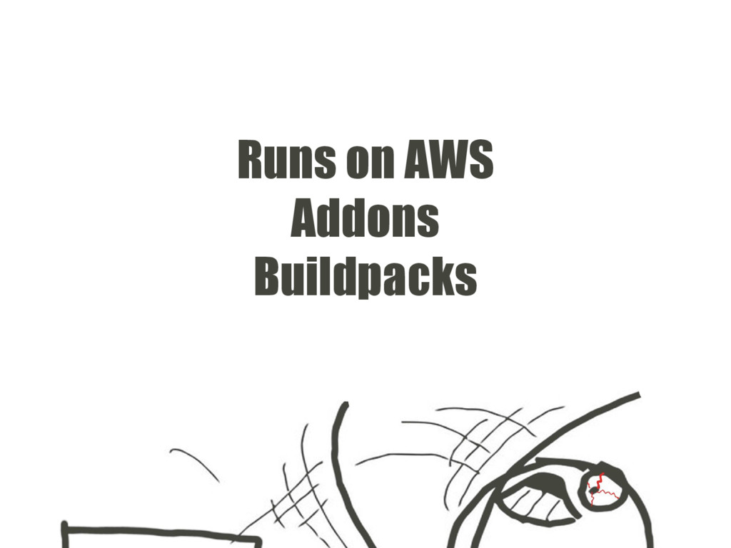 Runs on AWS Addons Buildpacks