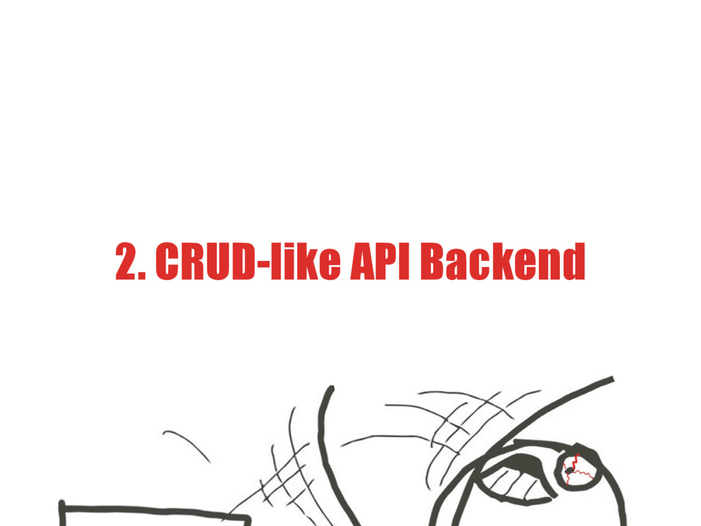 2. CRUD-like API Backend