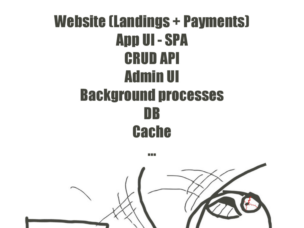 Website (Landings + Payments) App UI - SPA CRUD...