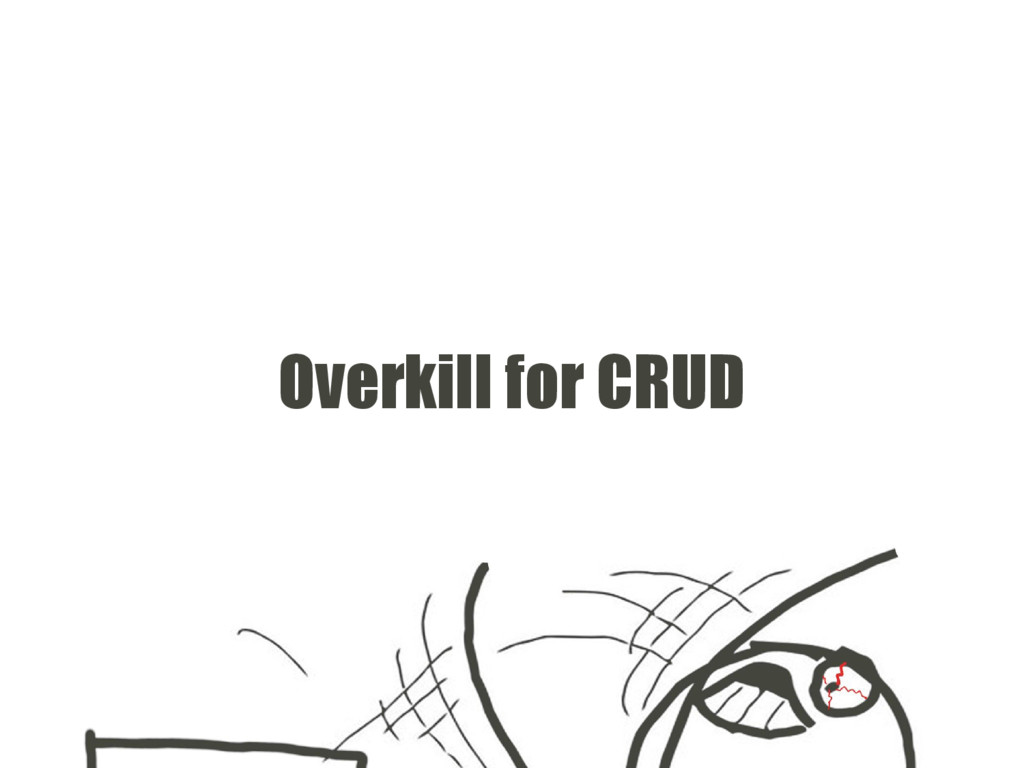 Overkill for CRUD