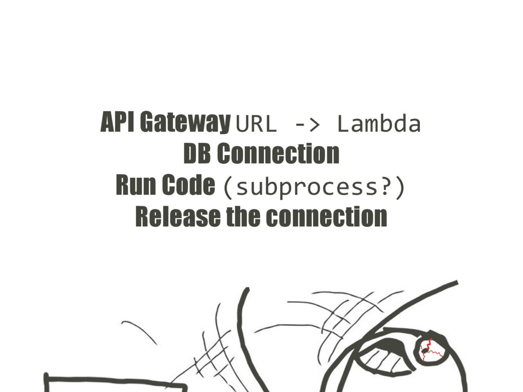 API Gateway URL -> Lambda DB Connection Run Cod...