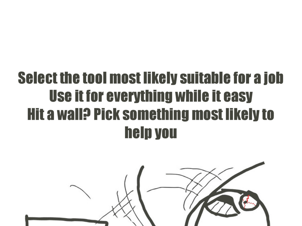 Select the tool most likely suitable for a job ...