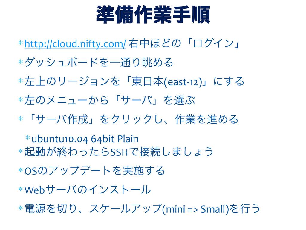 ∗http://cloud.nifty.com/ ӈத΄ͲͷʮϩάΠϯʯ ∗μογϡϘʔ...