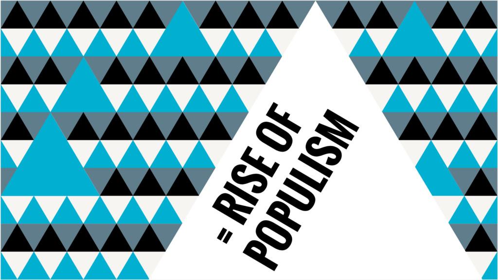 = RISE OF POPULISM