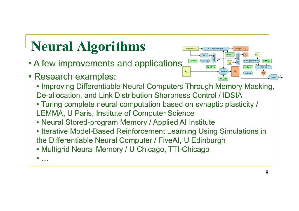 Neural Algorithms 8