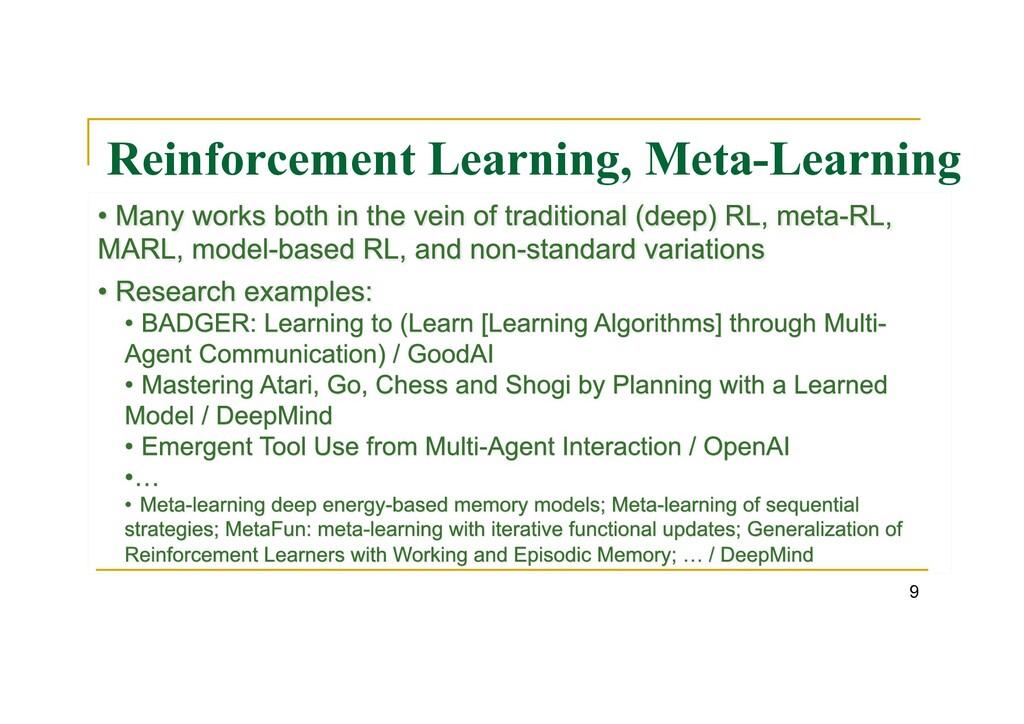 Reinforcement Learning, Meta-Learning 9