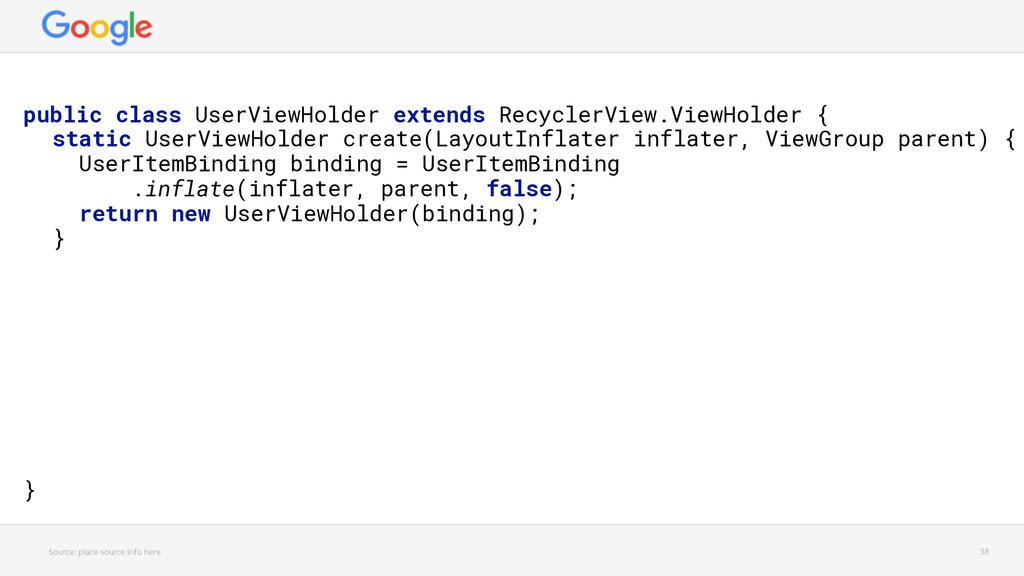 public class UserViewHolder extends RecyclerVie...