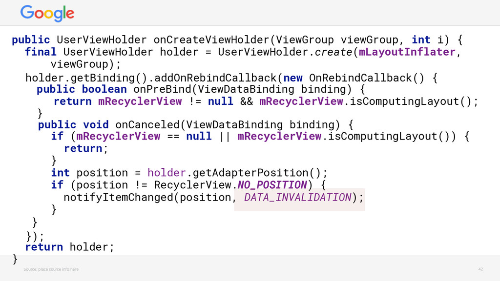 holder.getBinding().addOnRebindCallback(new OnR...