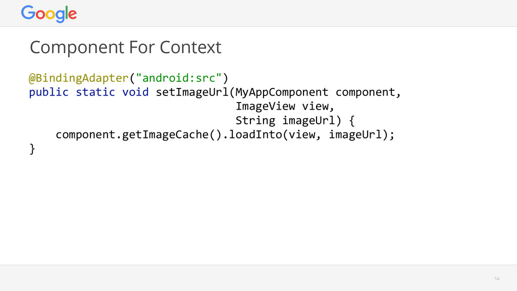 """Component For Context  54 @BindingAdapter(""""and..."""
