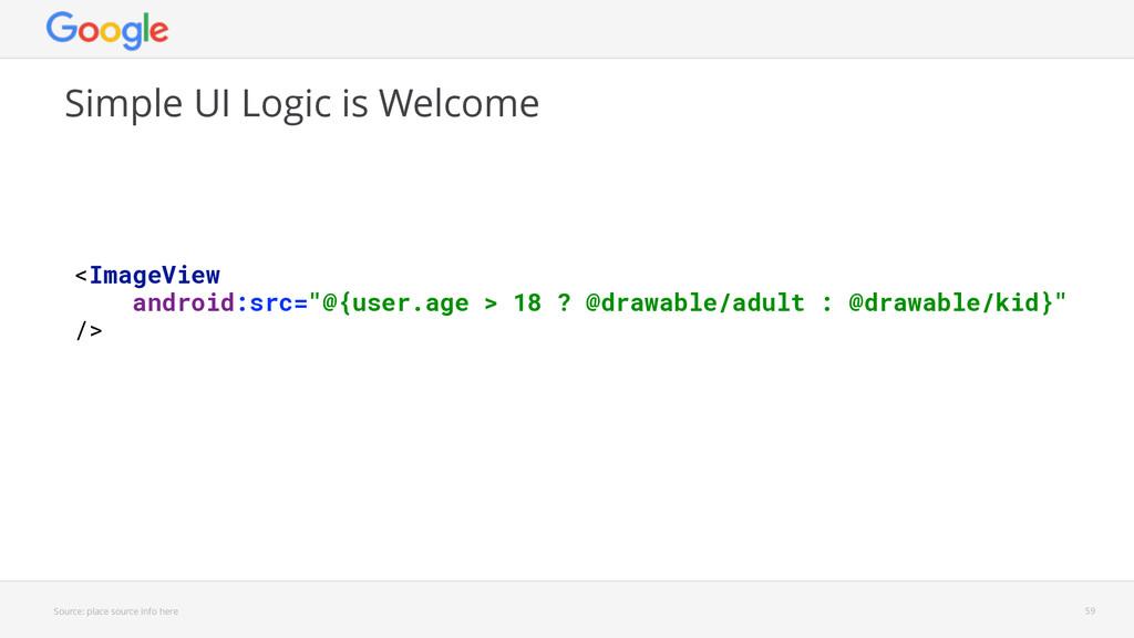 Source: place source info here Simple UI Logic ...