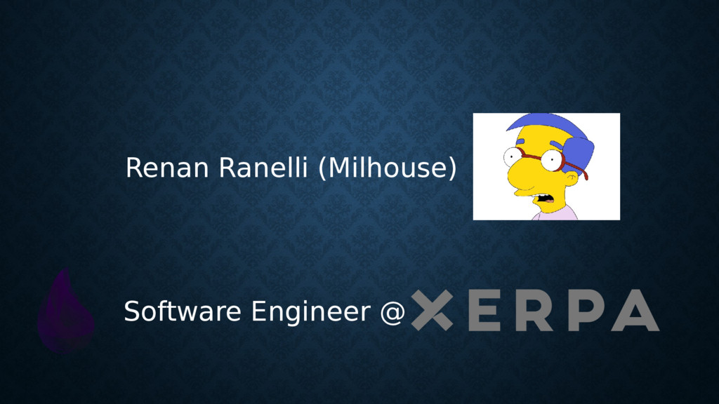 Software Engineer @ Renan Ranelli (Milhouse)