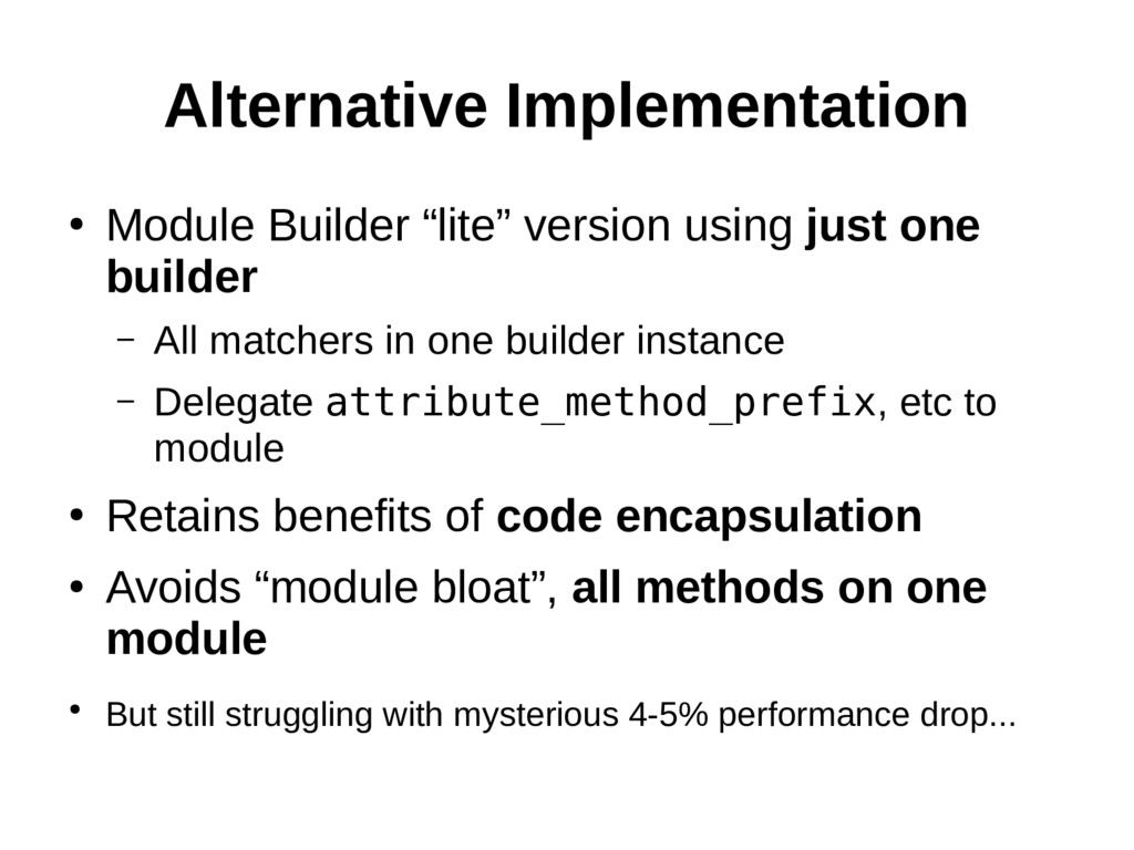 "Alternative Implementation ● Module Builder ""li..."