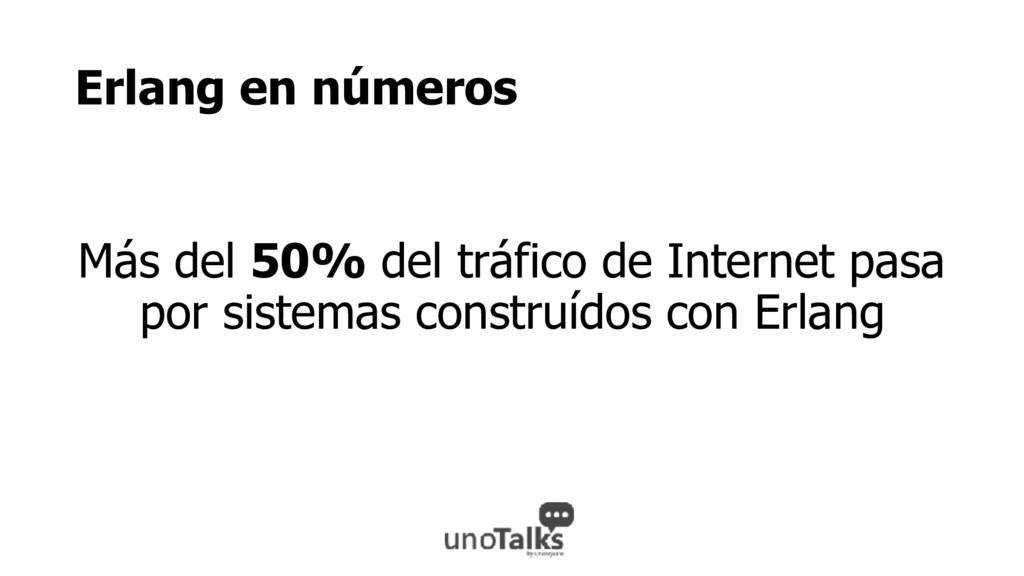 Erlang en números Más del 50% del tráfico de In...