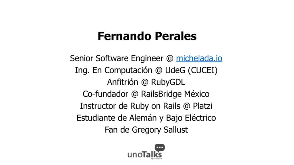 Fernando Perales Senior Software Engineer @ mic...